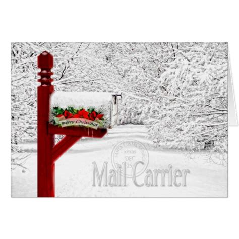 easy to mail christmas gifts mail carrier postal worker card zazzle