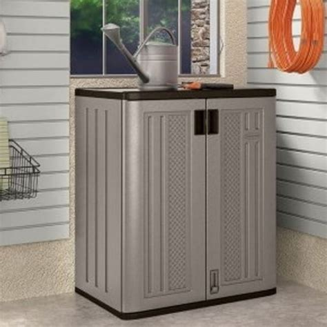 suncast outdoor cabinet assembly suncast base cabinet with 2 shelves garden