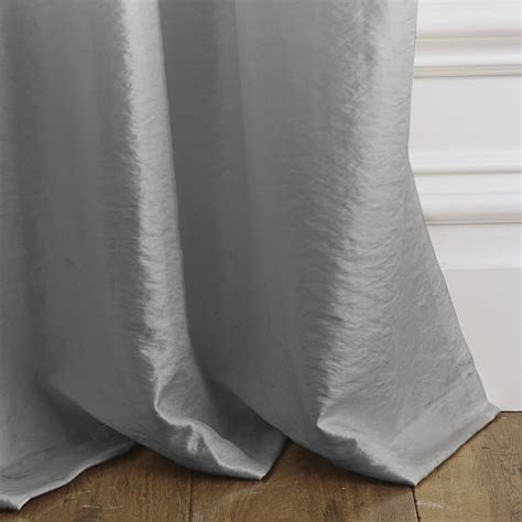 pewter silk curtains soho silk curtain pewter west elm