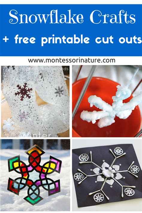 crafts for to make free snowflake crafts for and free printable cut outs