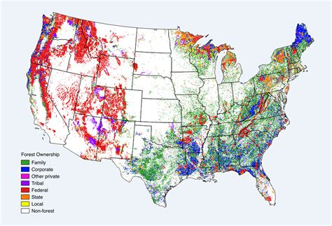 map of federally owned land in usa land us forest service