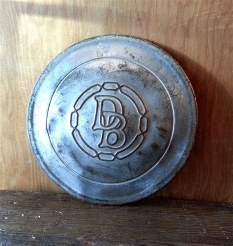 antique dodge brothers nickel plated brass hubcover hubcap face antiques brother  brass