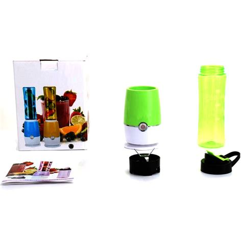Blender Juice Buah blender buah dobule cup portable 2 in 1 500ml blue jakartanotebook