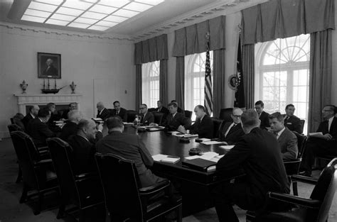 Jfk Cabinet by Kn 24643 President F Kennedy Holds Cabinet Meeting