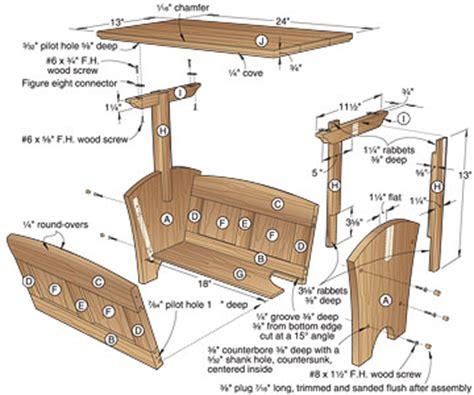 woodshop plans wood magazine bench plans
