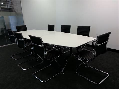 White Boardroom Table Potenza High Gloss White Boardroom Table Officeway Office Furniture Melbourne