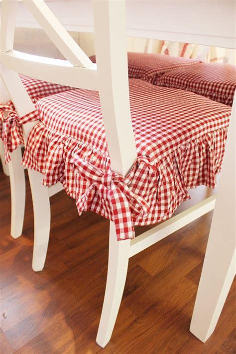 cuscini per le sedie della cucina tessuto a quadretti ti adoro la figurina