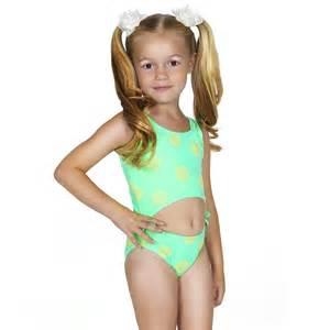 Hula star neon green yellow dot 1pc cutout swimsuit toddler girl 2t 4t