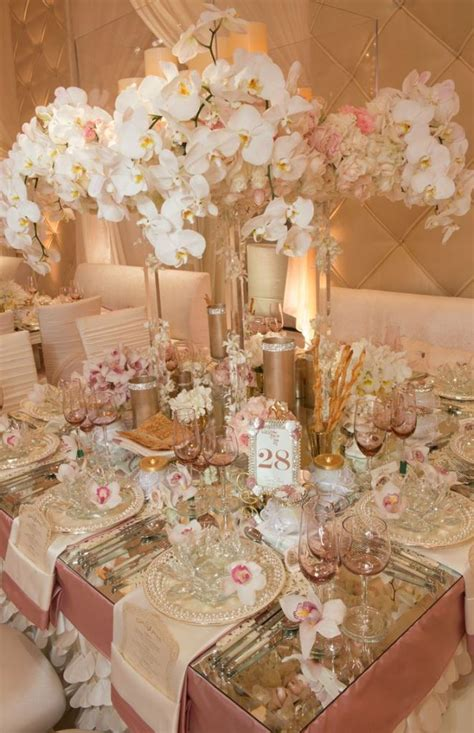Rustic Star Home Decor by A Gorgeous Pink And Champagne Wedding Tablescape B Lovely