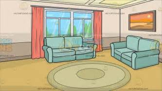 cartoon living room a small living room background cartoon clipart vector toons