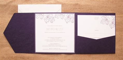 wedding invite pockets uk chris and lesley s vintage plum and smoke wedding invitations
