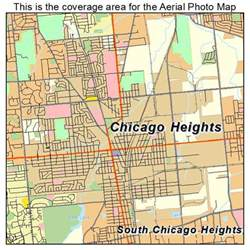 Chicago Heights Map by Aerial Photography Map Of Chicago Heights Il Illinois