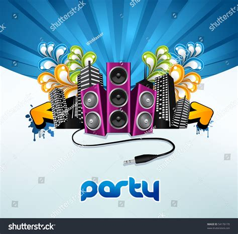 design poster for party party poster design stock vector 54176170 shutterstock