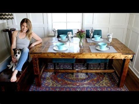 farmhouse table easy diy project youtube