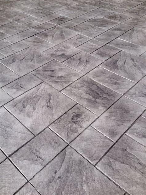 grey patterned concrete large ashler grey color sted concrete patterns and