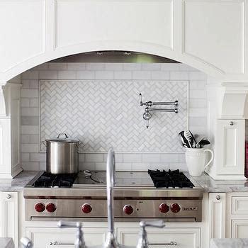 herringbone marble backsplash marble herringbone backsplash transitional kitchen