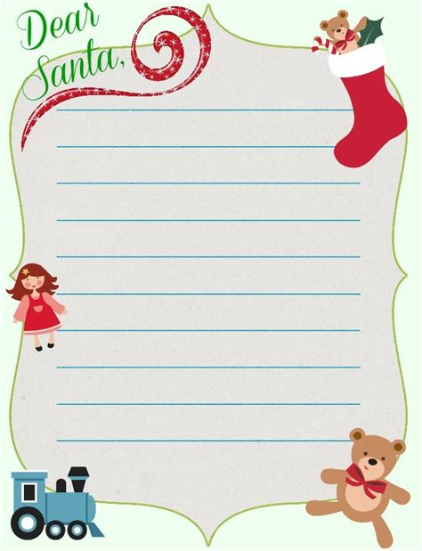 Charity Christmas Letter Free Christmas Printable Santa Letter Template Plus Today