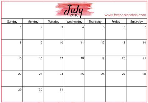 calendar template july 2018 july 2018 calendar printable templates