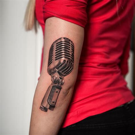 microphone tattoos 16 rockabilly microphone tattoos tattoodo