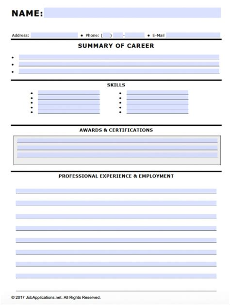 Free Fillable Job Application Forms In Adobe Pdf And Ms Word Docx Jobapplications Net Fillable Employment Application Template