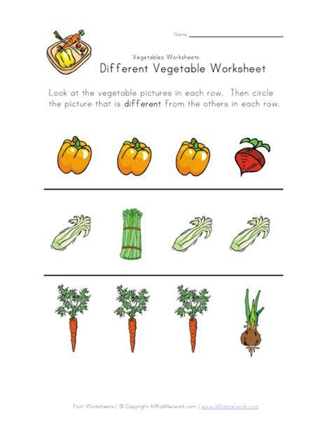 vegetables worksheet different vegetable worksheet