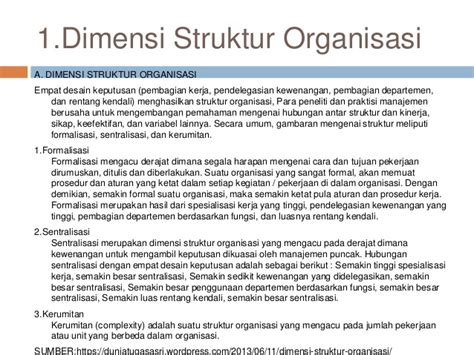 desain dan struktur organisasi manajemen desain dan struktur organisasi