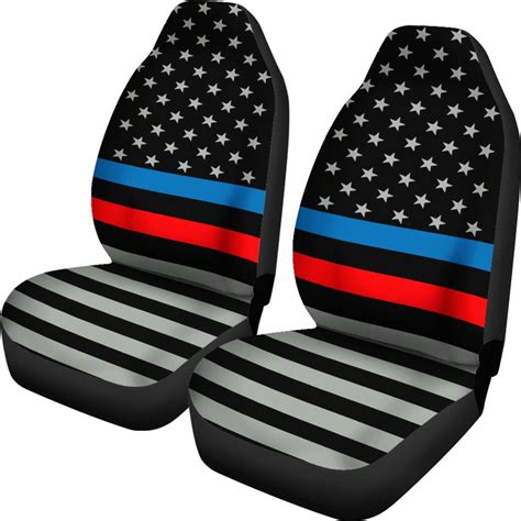 Thin Line Set Of 2 Thin Blue And Line Flag Car Seat Covers Set Of 2 Thin Blue Line Shop