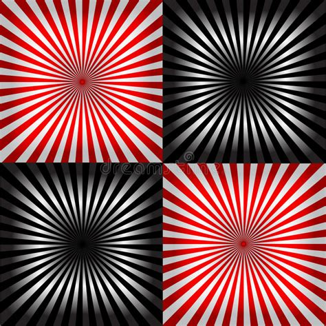x ray pattern vector ray pattern black white red background stock vector