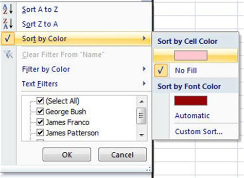 sort excel by color how to sort cells containing specific words in excel