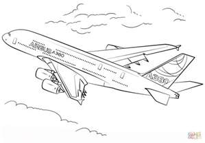 airbus a380 coloring free printable coloring pages