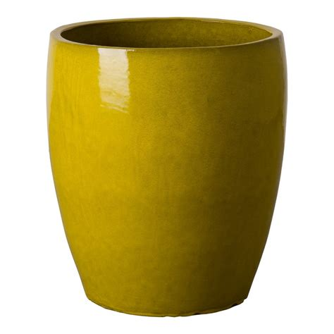 Bullet Planter by Emissary Bullet Planter Mustard Yellow Xlarge