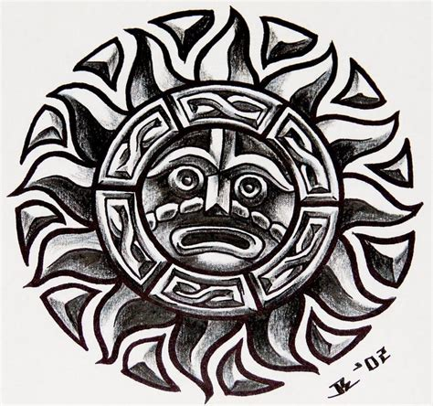 tribal aztec and tattoo design best 25 aztec tribal tattoos ideas on arm