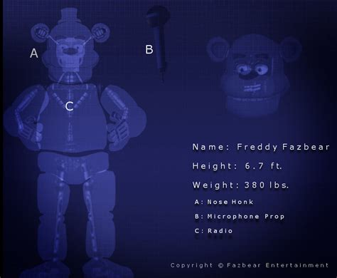 freddy fazbear blueprint by some crappy edits on deviantart