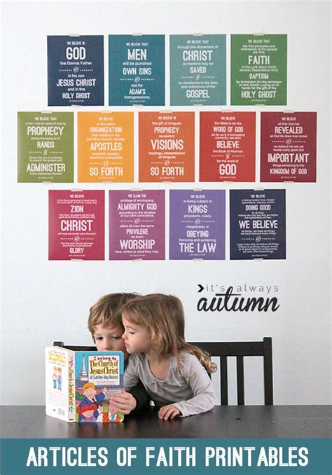 printable articles of faith 135 best images about lds printables on pinterest