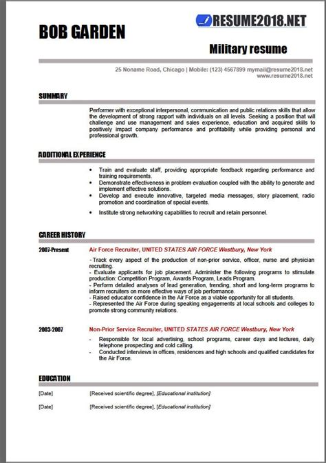 Examples Of Outstanding Resumes by Military Resume Examples 2018 Resume 2018
