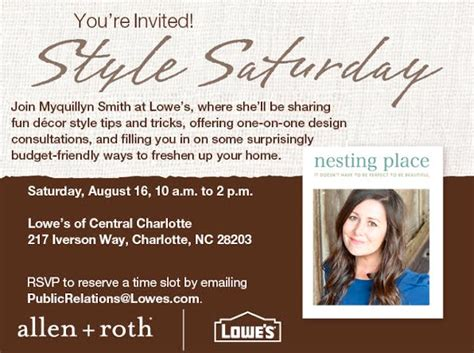lowes iverson way style saturday an invitation