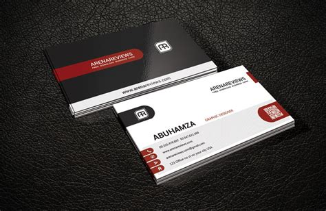 red corporate business card template download free