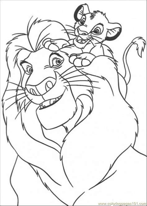 all lion king coloring pages simba and the king