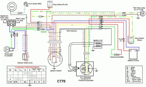 ct90 wiring diagram 1984 honda ct110 wiring diagram get free image about