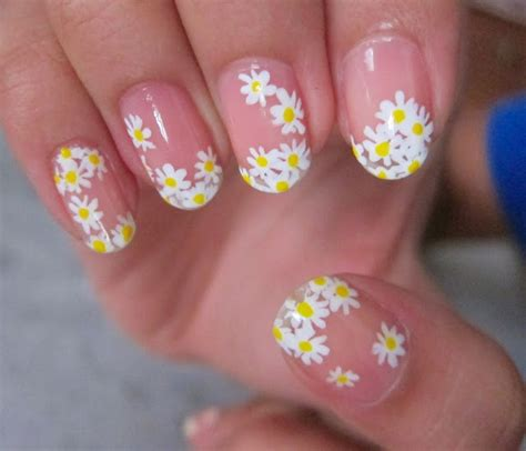Daisy Pattern Nails | daisy nails nail art pinterest daisy nails daisies