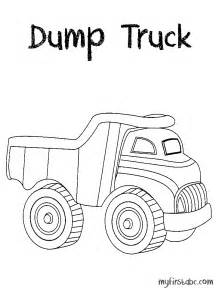 Dump Truck  Coloring Page sketch template
