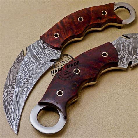 Handmade Karambit - damascus karambit knife custom handmade damascus steel