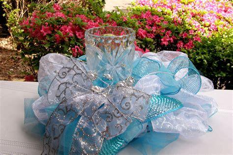 turquoise wedding centerpiece wedding by underthekentuckysun