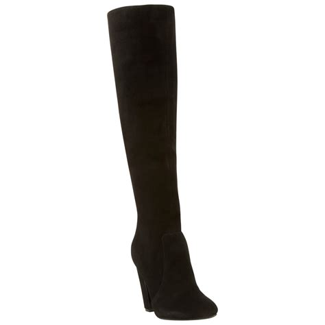 steve madden knee high boots steve madden priscilla suede knee high boots in black lyst