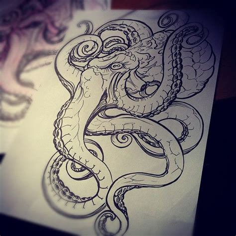 pencil drawings tattoo designs image result for realistic octopus drawing