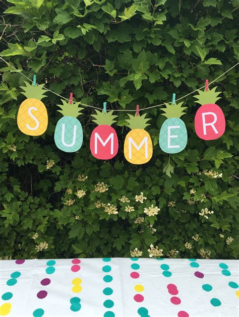 summer decoration summer banner printable my sister s suitcase packed with creativity