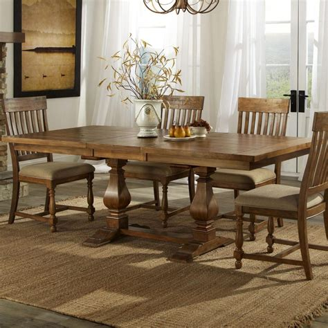 trestle dining room tables furniture hillsdale villagio trestle dining table dark