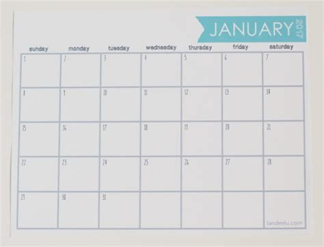 printable calendar 2017 horizontal 2017 ink friendly free printable calendar landeelu com