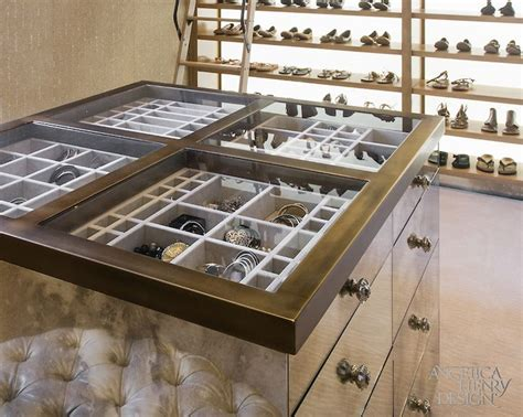 island with drawers for closet custom dresser drawers and jewelry case in her luxury walk