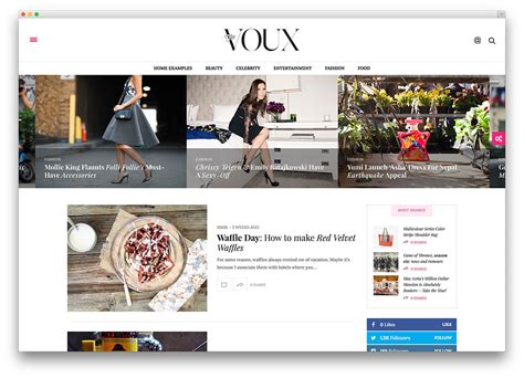 best designed blog 43 best fashion blog magazine wordpress themes 2018
